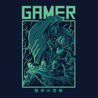 Gamer remastered illustration