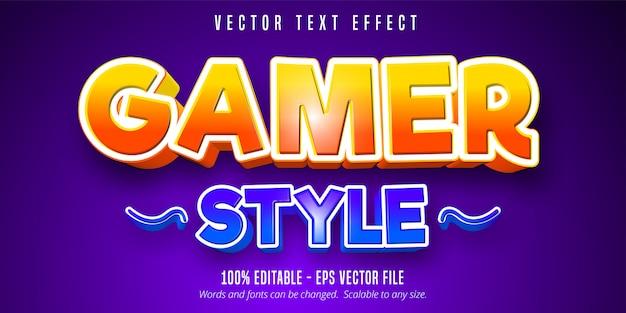 Игровой стиль текста, игровой стиль, редактируемый текстовый эффект