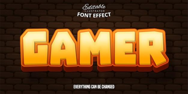 Геймерский текст, редактируемый эффект шрифта