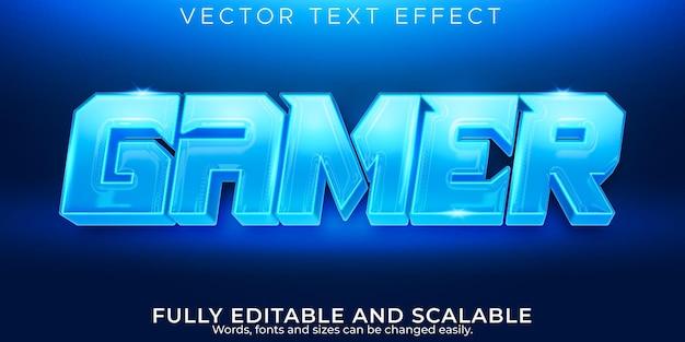 Текстовый эффект геймера, редактируемый киберспорт и неоновый стиль текста