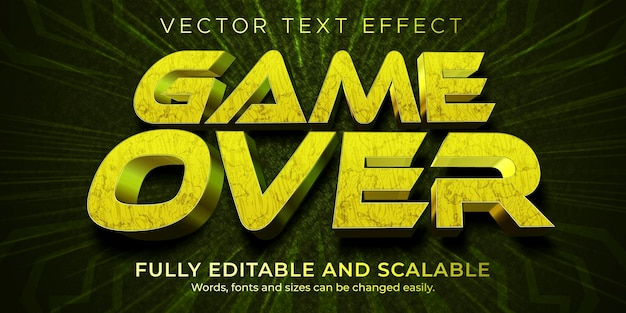 Gamer over text effect style template