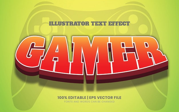Стиль текстового эффекта gamer