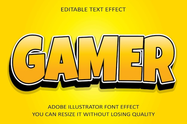 Gamer   text effect