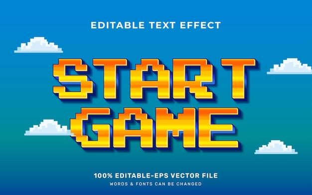 Текстовый эффект геймера