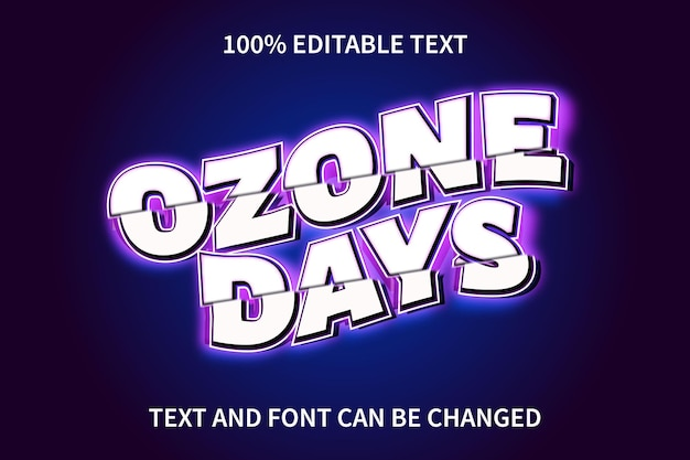 Gamers editable text effect modern style