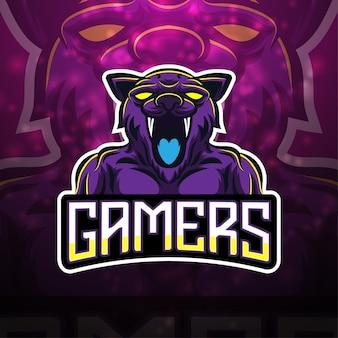 Геймеры киберспорт дизайн логотипа талисмана