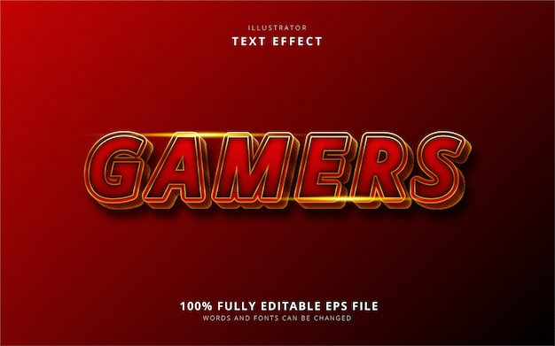 Gamers text effect