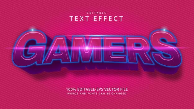 ゲーマーのテキスト効果