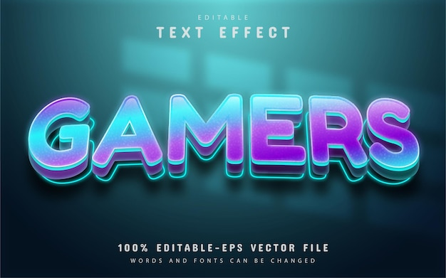 Gamers text, shiny gradient text effect editable