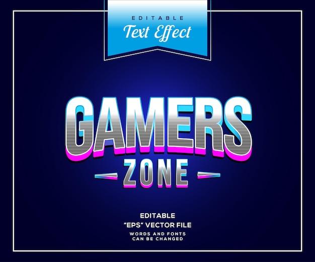 Текстовый эффект в стиле gamers zone