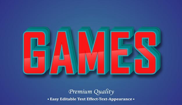 Games 3d font style effect