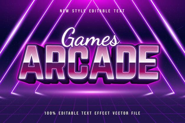 Игры аркады редактируемый текстовый эффект в стиле ретро
