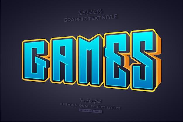Игры мультфильм 3d редактируемый текст эффект стиль шрифта