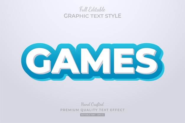 Games cartoon editable text style effect