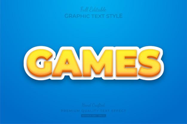 Games editable custom text style effect premium