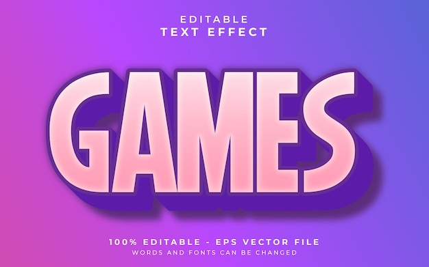 Games editable text effect