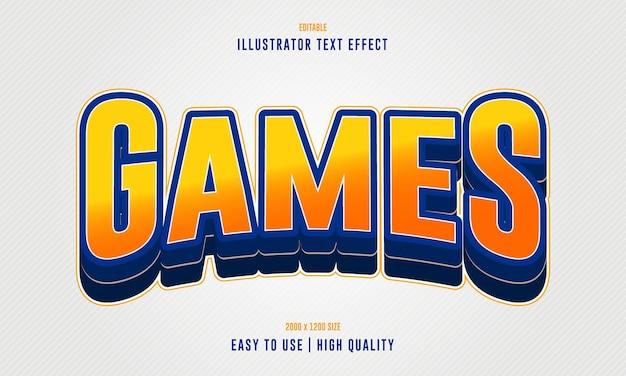 Редактируемый векторный 3d текстовый эффект в играх