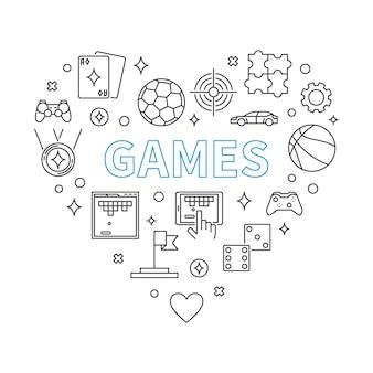 Игры сердце наброски иллюстрации