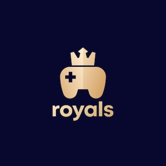 Games logo with gamepad and crown