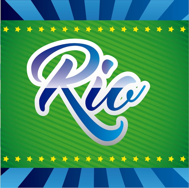 Games rio design  vector illustration