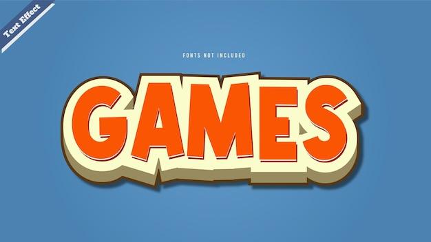 게임 텍스트 효과 디자인 벡터 3d 스타일 편집 가능한 글꼴 효과.