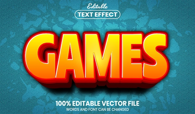 Games text, font style editable text effect