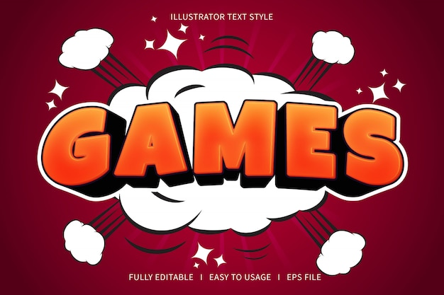 Games, text style font effect  red gradation orange
