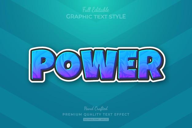 Games title cartoon editable premium text effect font style