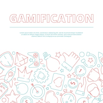 Gamification background. business rules for workers game achievement work motivation