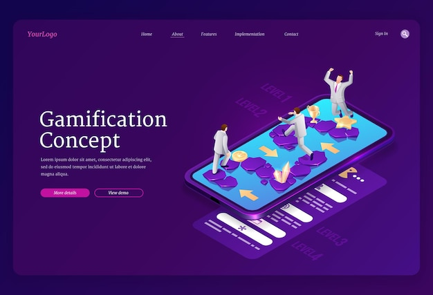Gamification landing page