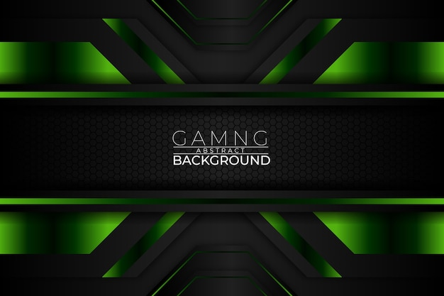 Gaming abstract background dark green style