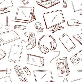Бесшовный фон игровых и компьютерных устройств.