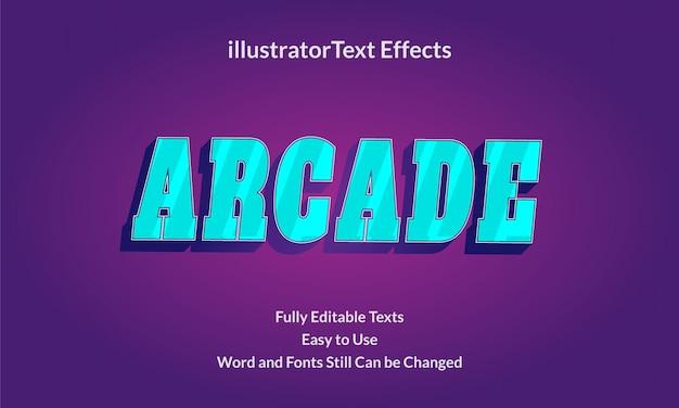 게임 아케이드 편집 가능한 텍스트 효과