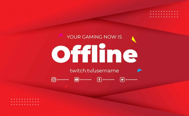 Gaming background for offline twitch stream, abstract futuristic backdrop with shine light. illustration