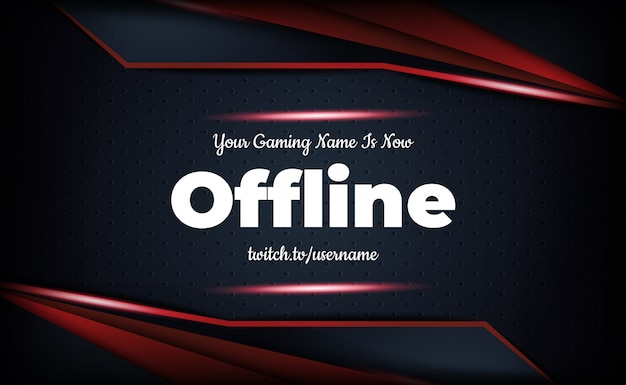 Gaming background for offline twitch stream