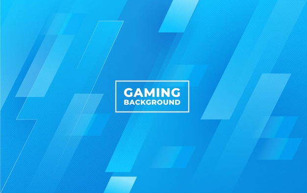 Gaming background with an abstract and minimalist blue concept vector template