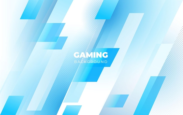 Gaming background with an abstract and minimalist blue concept
