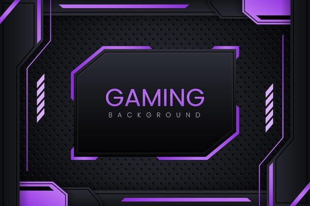 Gaming background with dark purple gradient vector design