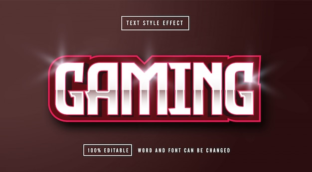 Gaming e-sport editable text effect