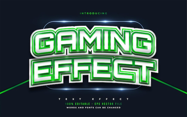 Gaming effect editable text style effect