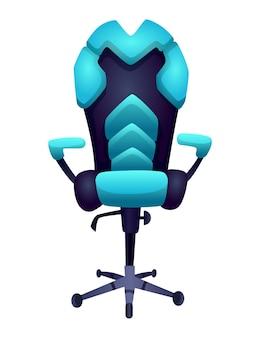 Игровое оборудование. удобное или эргономичное кресло для игровых развлечений.