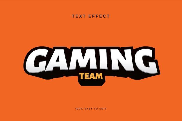 Gaming esport logo текстовый эффект