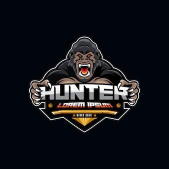 Gaming gorilla logo sport