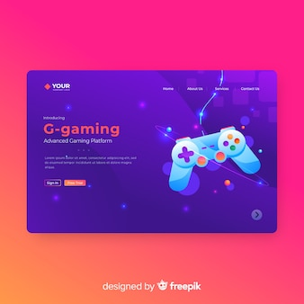 Gaming Landing Page Template
