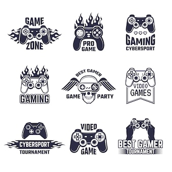 Gaming logo set