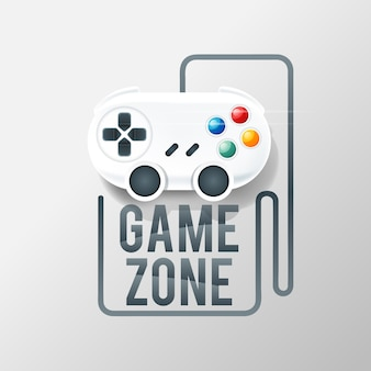 Gaming logo with console