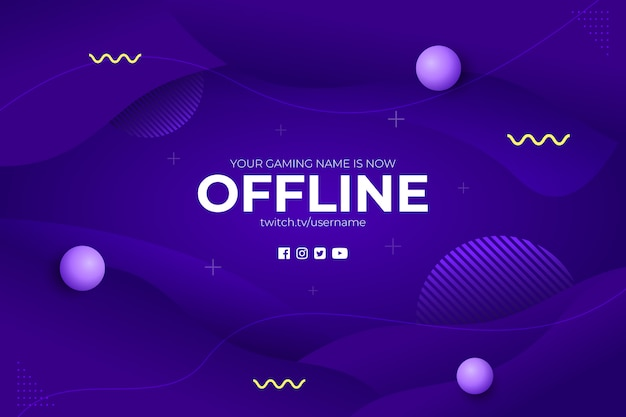 Gaming offline stream abstract background