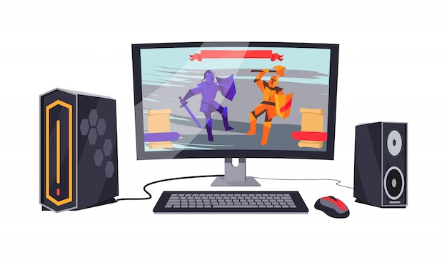 Gaming personal computer illustration