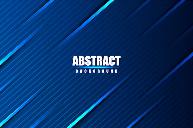 Gaming shiny dark blue abstract gradient background