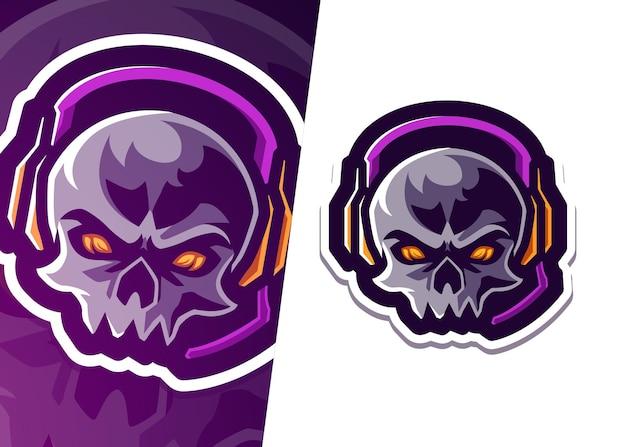 Gaming skull mascot logo
